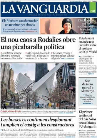 Vés a: «Puigdemont anuncia una consulta sobre el projecte BCN World», a la portada de «La Vanguardia»