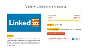 Vés a: Recollida de firmes perquè la xarxa professional LinkedIn incorpori el català