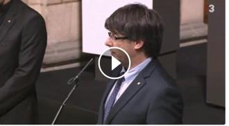 VÍDEO Puigdemont, als cònsols: «El país està caminant cap a la independència»
