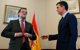 Rajoy i Sánchez escenifiquen el desacord