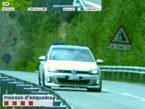 Els Mossos d'Esquadra detecten un vehicle circulant a 189 km/h per la C-14 a l'Alt Urgell