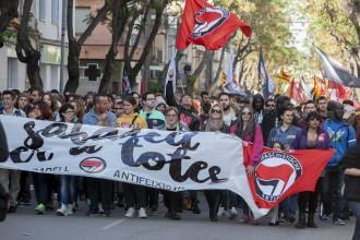 Manifestació antifeixista de Sabadell