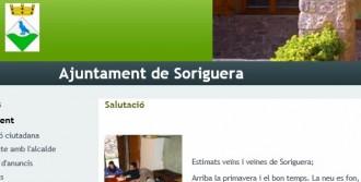 L'Ajuntament de Soriguera es mofa de l'Audiència Nacional al seu web