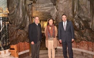 La presidenta de la Diputació visita Manresa i Sant Salvador de Guardiola