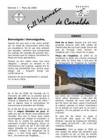 10 anys de full informatiu de Canalda