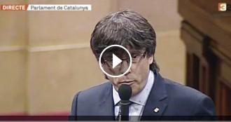 Vés a: VÍDEO Puigdemont, a Albiol: «Fer el ridícul és cessar un ambaixador a Bèlgica per gandul»