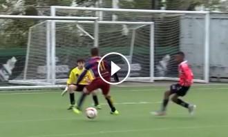 VÍDEO L'increïble gol d'un jugador de l'Aleví A del Barça