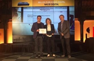 NacióDigital, millor publicació digital a la Nit de les Revistes 2016