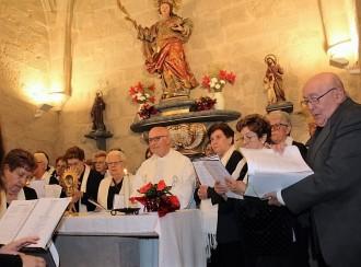 La Coral Sant Jordi de Solsona canta a la partida de Santa Llúcia