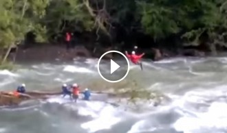 Rescaten quatre persones atrapades a la Noguera Pallaresa