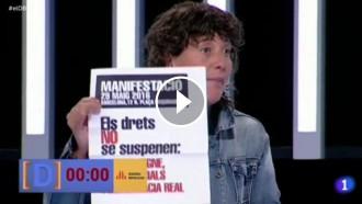 Vés a: VÍDEO ERC fa una crida a participar a la manifestació de diumenge des de TVE