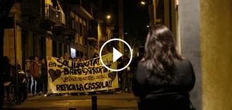 Vés a: Gràcia viu la primera nit de calma després del desallotjament del «banc expropiat»