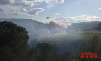 Vés a: Controlat l'incendi forestal a Torrelavit, a l'Alt Penedès