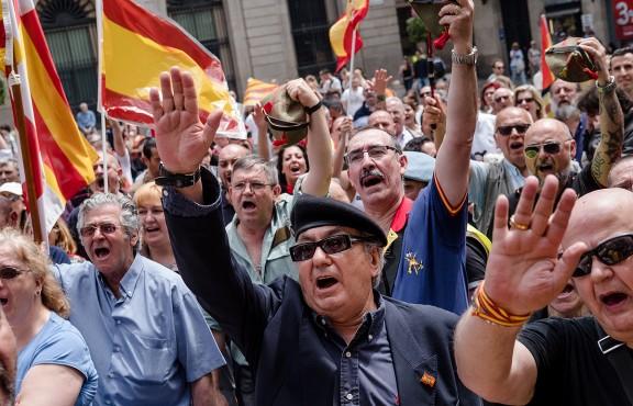 Manifestació de legionaris a Barcelona