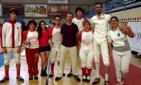 Set tiradors de l'Esgrima Terrassa, al Campionat de Catalunya 2016