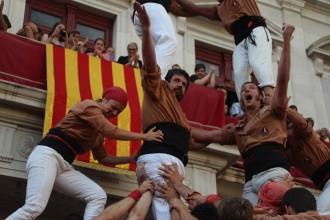 Els Xiquets de Reus tasten els nou pisos a la seva Festa Major