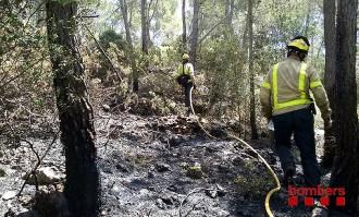 Un incendi forestal crema 1,3 hectàrees a Olesa de Bonesvalls