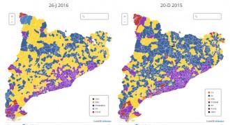 Vés a: MAPA El partit més votat el 26-J, municipi a municipi