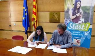 AMPANS i el Consell Comarcal signen un conveni per facilitar la inserció laboral de joves en aquesta comarca