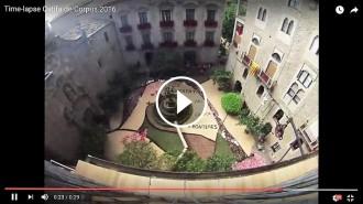 Mira en time lapse com van fer els escoltes de Solsona la catifa de Corpus