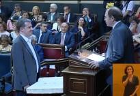 Xavier Castellana pren possessió del càrrec de senador a Madrid per ERC