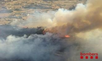 El risc d'incendis forestals cau a totes les comarques catalanes