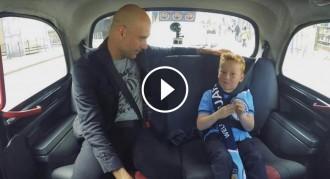 VÍDEO La reacció d'un seguidor del City de set anys en conèixer Guardiola