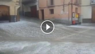 Espectacular pedregada a Comiols i Sant Salvador de Toló