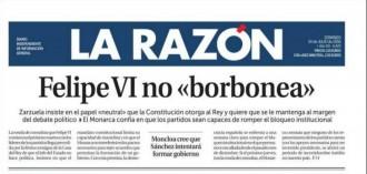 Vés a: «Felipe VI no borbonea», a la portada de «La Razón»