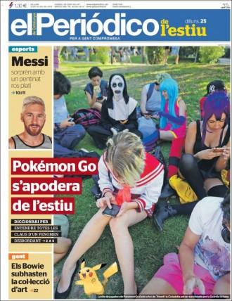 Vés a: «Pokémon Go s'apodera de l'estiu», a la portada d'«El Periódico»