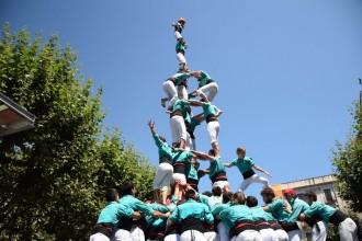 Festival (agredolç) de castells de 9 i Gamma Extra a Les Santes