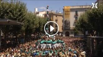 VÍDEO L'èpic 3 de 9 amb folre i agulla dels Castellers de Vilafranca a Mataró