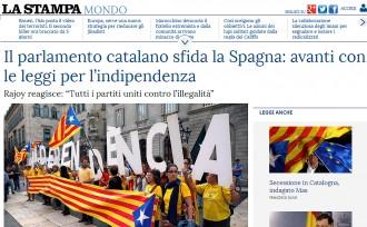 Vés a: La premsa internacional es fa ressò del desafiament del Parlament català al TC