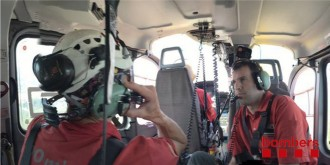 Vés a: Els Bombers rescaten una dona ferida en una via ferrada de Montserrat