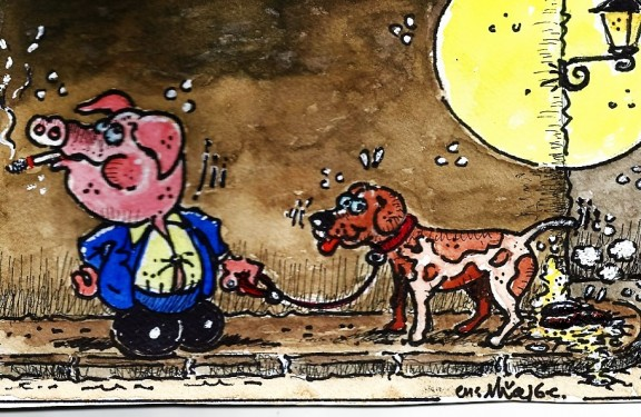 ...l'Ajuntament de Solsona multarà als gossos que vagin acompanyats de porcs!!!