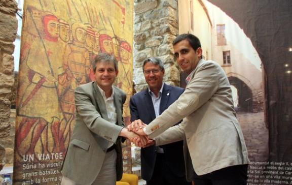 Solsona, Cardona i Súria rubriquen el conveni per promocionar conjuntament els seus centres històrics
