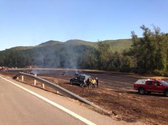 Un incendi de vegetació agrícola crema 3500 m2 a Castellar de la Ribera al Solsonès