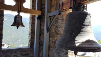 El campanar de l'església d'Olp torna a sonar al complet 42 anys després