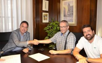Ajuntament i Club Patí Manresa signen un conveni per a l'ús del Pujolet