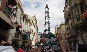 Vés a: Els Castellers de Vilafranca fan el tres de  deu... a 48 hores de Sant Fèlix