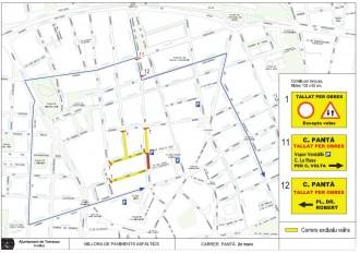 El carrer del Pantà de Terrassa, tallat al trànsit aquest dimarts
