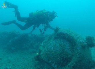 Vés a: Fan esclatar una mina de la II Guerra Mundial submergida al Port de la Selva
