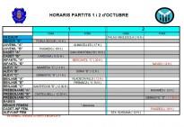 Horaris Futbol Base Solsona Arrels