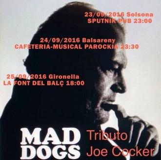Guanyadors d'entrades al concert Mad Dogs Tribut a Joe Cocker a l'Sputnik