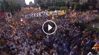 L'ANC publica el vídeo amb espectaculars imatges de les manifestacions de la Diada