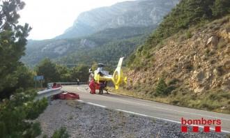 Vés a: Ferit un motorista després de caure per un talús a Guixers, al Solsonès