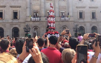 Vés a: Tres colles fan castells de nou a la Diada barcelonina de La Mercè