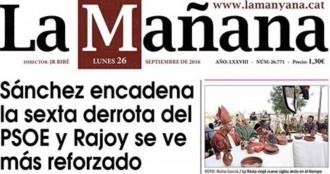 «Sánchez encadena la sisena derrota del PSOE i Rajoy es veu reforçat», a La Mañana