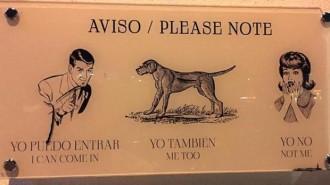 El polèmic cartell d'una barberia de Palma: «Gossos, sí; dones, no»