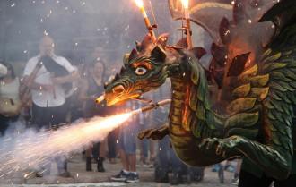 Seguici festiu, música i olor de pólvora omplen Reus per Festes de Misericòrdia